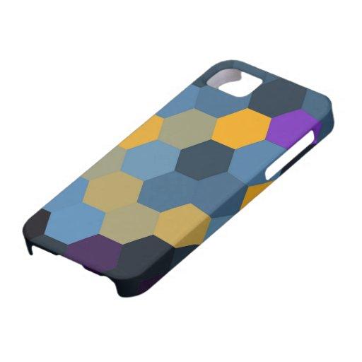 Gráfico inconsútil de los hexágonos coloridos iPhone 5 fundas
