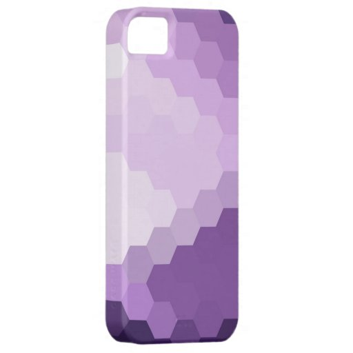Gráfico inconsútil hexagonal violeta iPhone 5 protector
