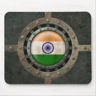Gráfico indio de acero industrial del disco de la  alfombrilla de ratón