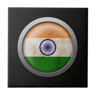 Gráfico indio del disco de la bandera de la malla  teja