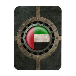 Gráfico industrial del disco de la bandera de los  imanes de vinilo