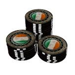 Gráfico irlandés de acero industrial del disco de  juego de fichas de póquer