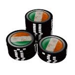 Gráfico irlandés del disco de la bandera de la mal fichas de póquer