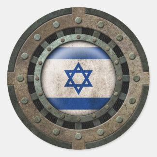 Gráfico israelí de acero industrial del disco de pegatinas redondas