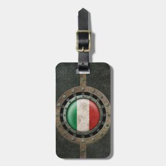 Gráfico italiano de acero industrial del disco de  etiquetas maletas
