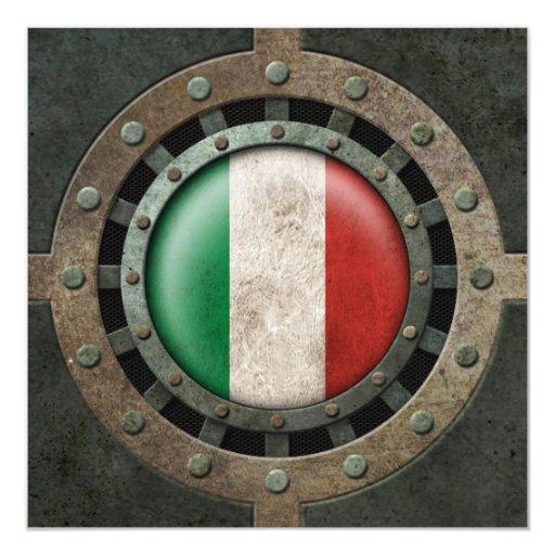 """Gráfico italiano de acero industrial del disco de invitación 5.25"""" x 5.25"""""""