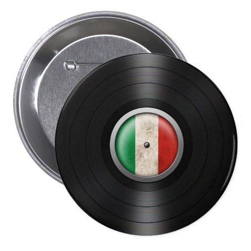 Gráfico italiano del álbum de disco de vinilo de l pin