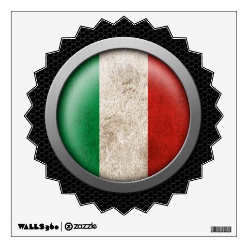 Gráfico italiano del disco de la bandera de la mal