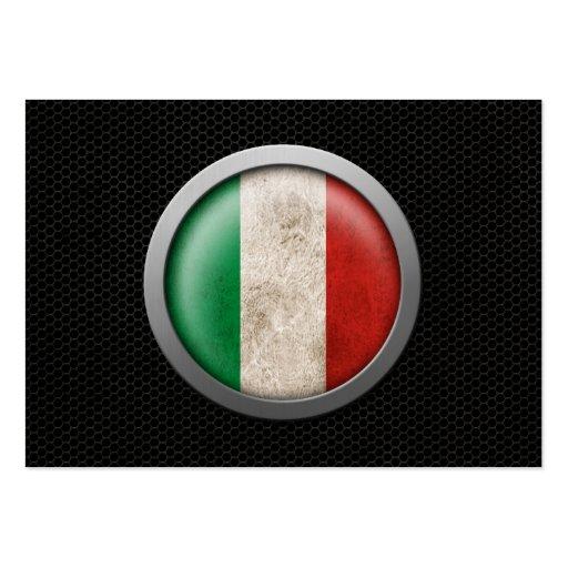 Gráfico italiano del disco de la bandera de la mal tarjetas de visita grandes