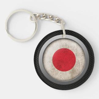 Gráfico japonés del disco de la bandera de la mall llavero redondo acrílico a doble cara