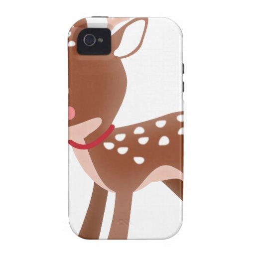 Gráfico lindo de los ciervos Case-Mate iPhone 4 carcasa