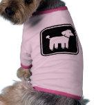 Gráfico lindo del caniche prenda mascota
