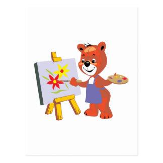 gráfico lindo del oso de peluche del artista postales