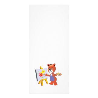 gráfico lindo del oso de peluche del artista tarjeta publicitaria personalizada