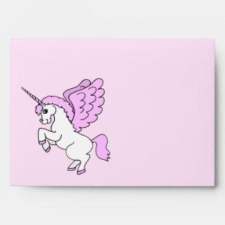 Gráfico lindo del unicornio sobres