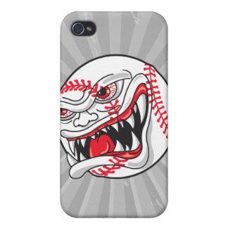 gráfico malo enojado del béisbol iPhone 4 fundas