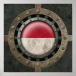 Gráfico Monacan de acero industrial del disco de l Poster