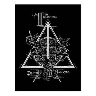 Gráfico MORTAL de HALLOWS™ Tarjeta Postal