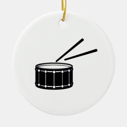 gráfico negro de la trampa con sticks.png adorno navideño redondo de cerámica