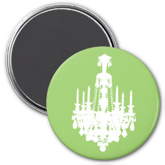 Gráfico negro y blanco de la lámpara del vintage imán redondo 7 cm