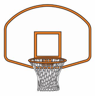 gráfico neto del baloncesto escultura fotográfica