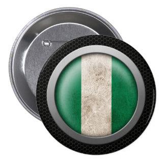Gráfico nigeriano del disco de la bandera de la ma pin