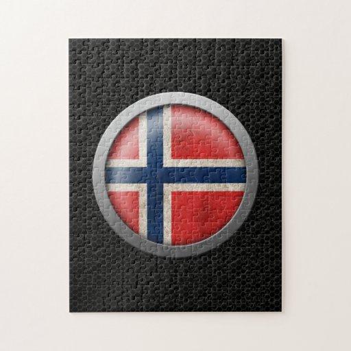 Gráfico noruego del disco de la bandera de la mall puzzle