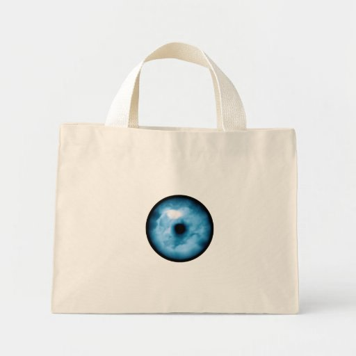 Gráfico nublado azul claro del ojo bolsa