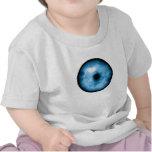 Gráfico nublado azul claro del ojo camiseta