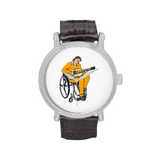 gráfico orange.png de la silla de ruedas del relojes de pulsera