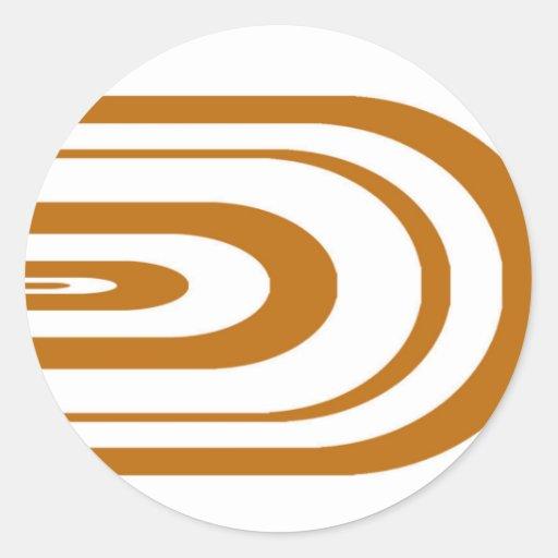 Gráfico oval anaranjado pegatina redonda