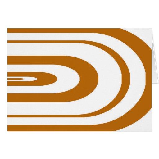 Gráfico oval anaranjado tarjeta de felicitación