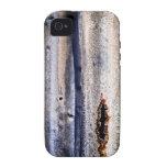 Gráfico oxidado del apartadero de la lata vibe iPhone 4 funda