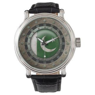 Gráfico paquistaní de acero industrial del disco relojes de mano