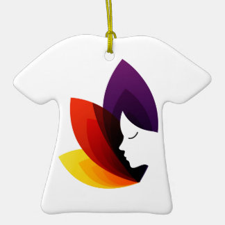 Gráfico para el centro de la fertilidad de las adorno de cerámica en forma de camiseta