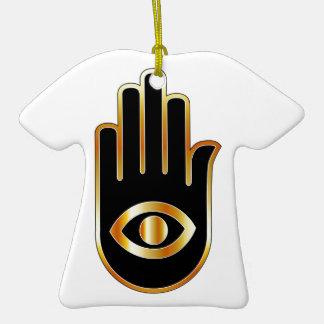 Gráfico para el lector psíquico o de mente adorno de cerámica en forma de camiseta