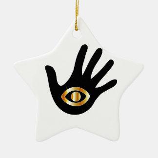 Gráfico para el lector psíquico o de mente adorno de cerámica en forma de estrella