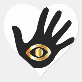 Gráfico para el lector psíquico o de mente pegatina en forma de corazón