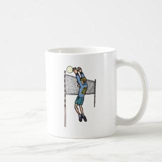 gráfico para hombre del dibujo animado del voleo d tazas de café