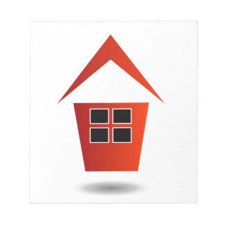 Gráfico para las propiedades inmobiliarias bloc de papel