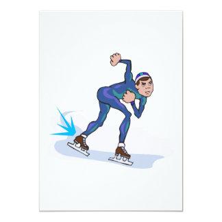gráfico patinador del patinador de la velocidad invitación