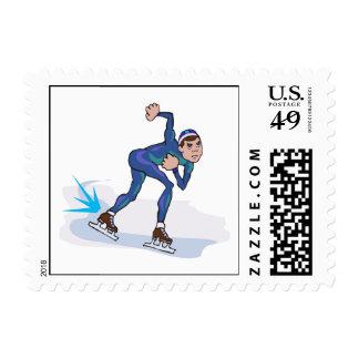 gráfico patinador del patinador de la velocidad sellos