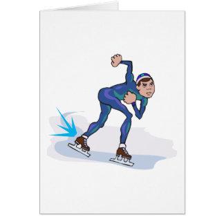 gráfico patinador del patinador de la velocidad felicitaciones
