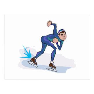 gráfico patinador del patinador de la velocidad postal