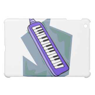 Gráfico portátil azul del piano del teclado 80s de