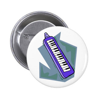 Gráfico portátil azul del piano del teclado 80s de pin