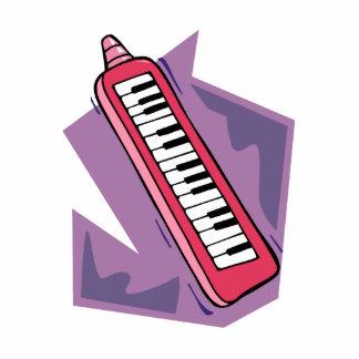Gráfico portátil rosado del piano del teclado 80s  esculturas fotograficas