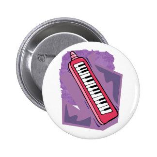 Gráfico portátil rosado del piano del teclado 80s  pins