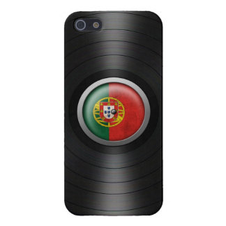 Gráfico portugués del álbum de disco de vinilo de iPhone 5 protectores