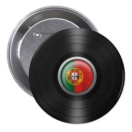 Gráfico portugués del álbum de disco de vinilo de  pin redondo de 3 pulgadas
